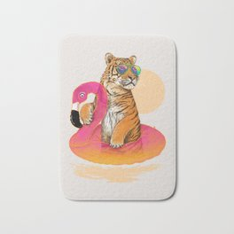 Chillin (Flamingo Tiger) Bath Mat