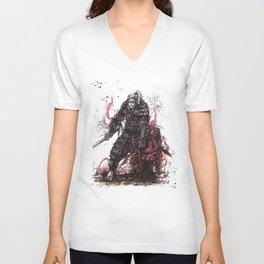 Geralt of Rivia Witcher Samurai Tribute Unisex V-Neck
