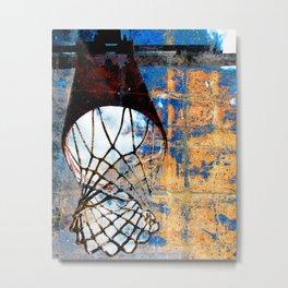Basketball art swoosh vs 23 Metal Print