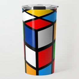 Multicolored Rubik Cube Travel Mug