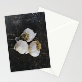 Garlic cloves Stationery Cards