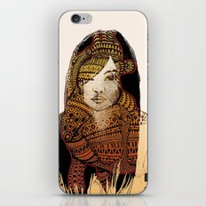 Native girl iPhone & iPod Skin