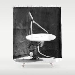 sat-a-lite Shower Curtain