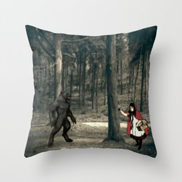 Scary Wolf Throw Pillow