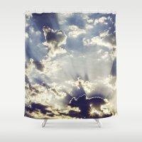 oslo Shower Curtains featuring Oslo Sky  by Håkon Jørgensen