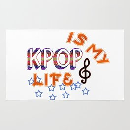 Kpop Is My Life Rug
