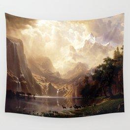 Albert Bierstadt - Among the Sierra Nevada, California Wall Tapestry