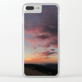 Untitled Sunset #3 Clear iPhone Case