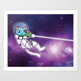Galaxy Cat Art Print