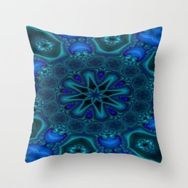 Battling At The Chasm Mandala 3 Throw Pillow