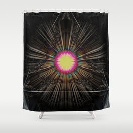 Triangle of light. Shower Curtain