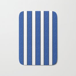 Simple blue, white stripes. Bath Mat