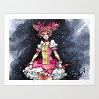madoka magica Art Prints featuring Madoka Magica by Refrigerator-Art
