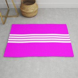 "4 Stripes on Pink ""Girlpower"" Rug"