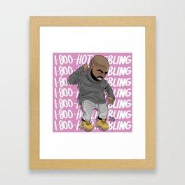 1-800-HOTLINE BLING Framed Art Print