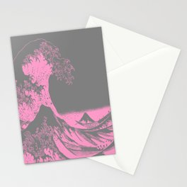 The Great Wave Pink & Gray Stationery Cards
