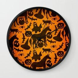 Halloween Spook Unicorn Wall Clock