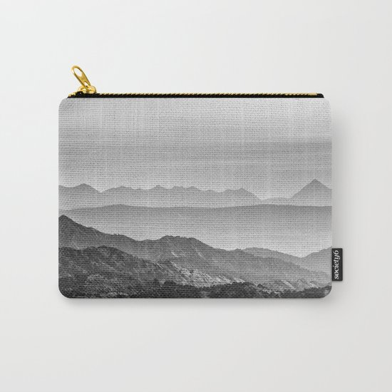 """Mountain dreams"". At sunset. BW Carry-All Pouch"