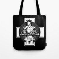 nurse Tote Bags featuring Nurse by Trine Paulsen