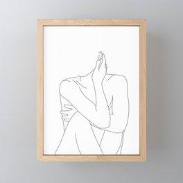 Nude life drawing figure - Celina Framed Mini Art Print