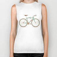 bicycle Biker Tanks featuring Bicycle by Daniel Mackey