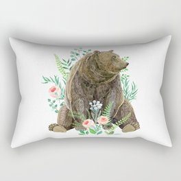 bear sitting in the forest Rectangular Pillow