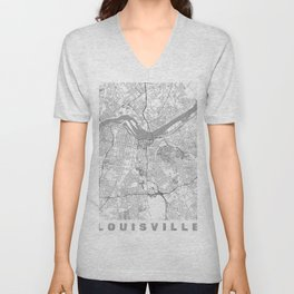 Louisville Map Line Unisex V-Neck