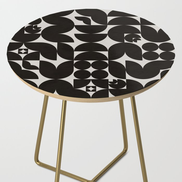 Black & White Mid Century Modern Pattern Side Table