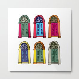 Nicosia Doors (colored) Metal Print