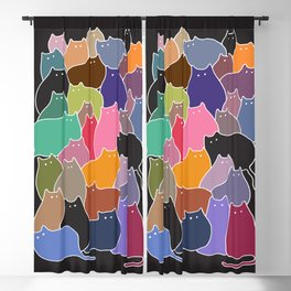 Colorful Patchwork Cats Blackout Curtain