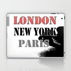 London , New York , Paris. Grunge . Laptop & iPad Skin