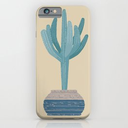 Saguaro cactus in a basket planter iPhone Case