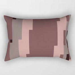 Mauve Pixels Rectangular Pillow