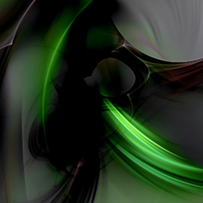 Abstract in Black and Green Leggings