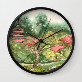 Japanese Garden San Francisco Wall Clock