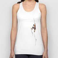 climbing Tank Tops featuring Climbing: Solitude by Brian DeYoung Illustration