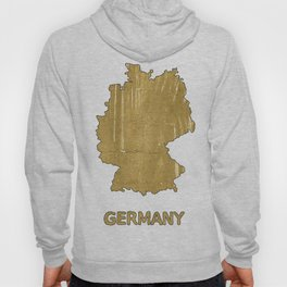 Germany map outline Aztec Gold watercolor Hoody