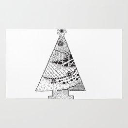 Doodle Christmas Tree Rug