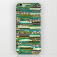 green quilt iPhone Skin