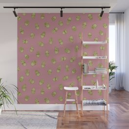 Pink+Mustard Succulents Wall Mural