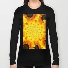 Spinning Sunflowers Long Sleeve T-shirt