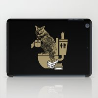 bathroom iPad Cases featuring Bathroom Owl by October's Very Own