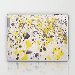 Yellow Grey Classic Abstract Art Laptop & iPad Skin