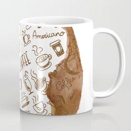 Inside an imprint of Coffee - I love Coffee Coffee Mug
