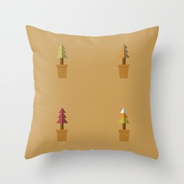 Potted Plants In Autumn Throw Pillow