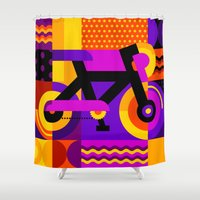 bicycle Shower Curtains featuring Bicycle by koivo