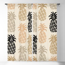 Retro Mid Century Modern Pineapple Pattern 77 Blackout Curtain