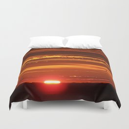 Red Sky Flight Duvet Cover