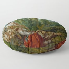 "François Boucher ""L'Appeau (also known as L'Oiseau pris dans les filets)"" Floor Pillow"