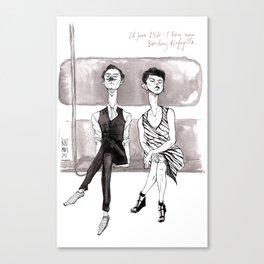 F-Train Snobs by Kat Mills Canvas Print